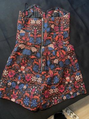 H&M Sukienka z gorsetem ciemnoniebieski-ciemnoczerwony