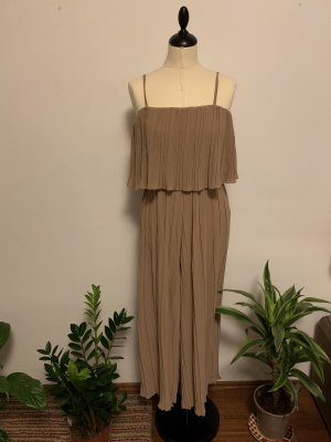 Dungarees beige-camel polyester