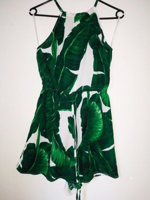 AX Paris Abito cut out verde-bianco