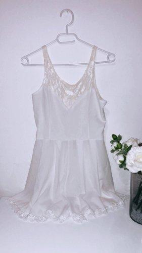 Overall einteiler playsuit weiß spitze jumpsuit