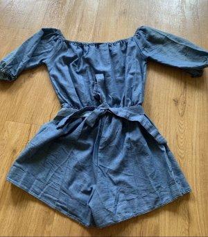 0039 Italy Short en jean bleu coton