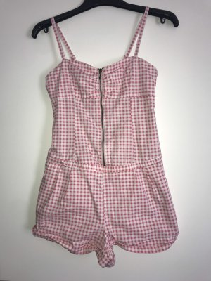 Overall Jumpsuit rosa mit Vichy Karo Gr 36