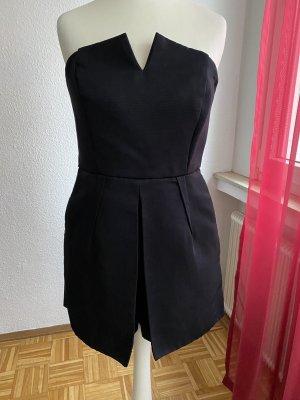 Overall Jumpsuit Topshop schwarz black schulterfrei US 36 S