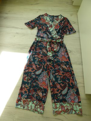 Dorothy Perkins Tailleur-pantalon vert forêt-rouge tissu mixte