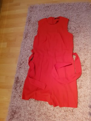 overall kurz mit schleife von mango in rot