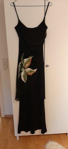 overall mit gemalter Blüte