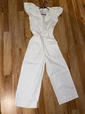 Zara Vestido con flecos blanco