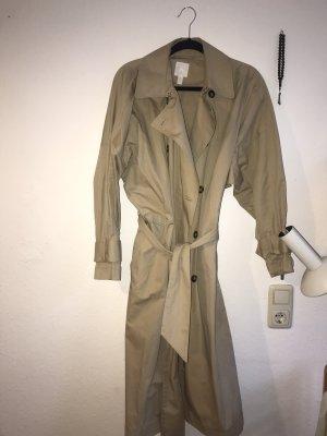 H&M Basic Kurtka oversize jasnobeżowy-kremowy