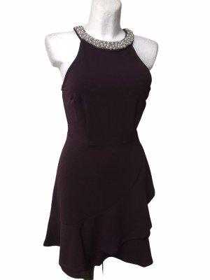 Overgine Damen Kleid mit Perlen Kragen M