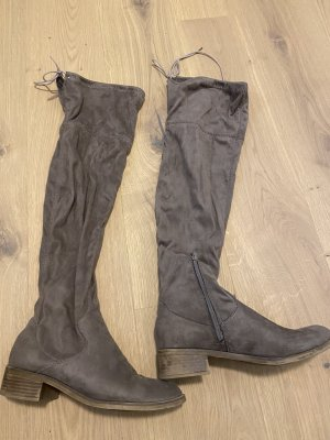 s.Oliver Overknees taupe