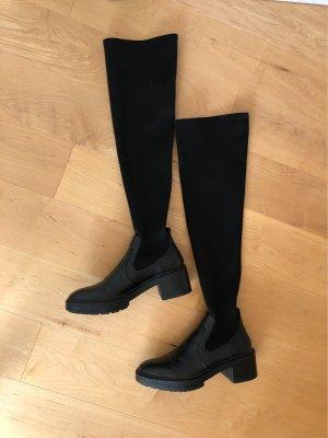 Overknee boots aus 2 materialien