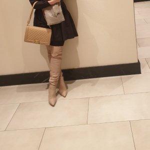 Overknee boots, Stiefel, 39, beige