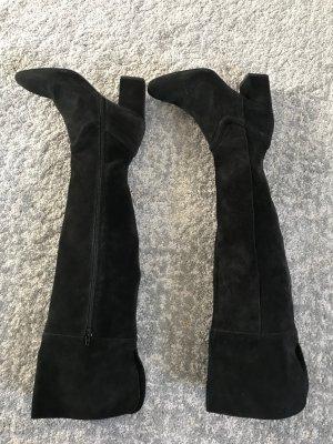Overknee Boots Zara schwarz