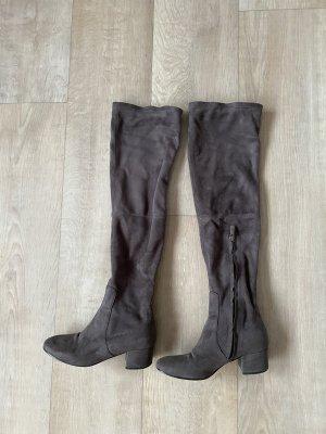 Buty nad kolano szary-ciemnoszary