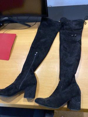 Buty nad kolano czarny