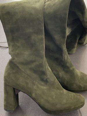 Peter Kaiser Stivale cuissard grigio-verde-cachi