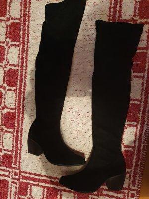 Caro Stivale cuissard nero Pelle