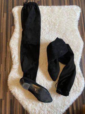 Buffalo Buty nad kolano czarny