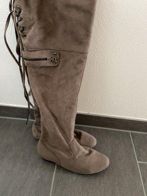 Botas sobre la rodilla camel-marrón claro