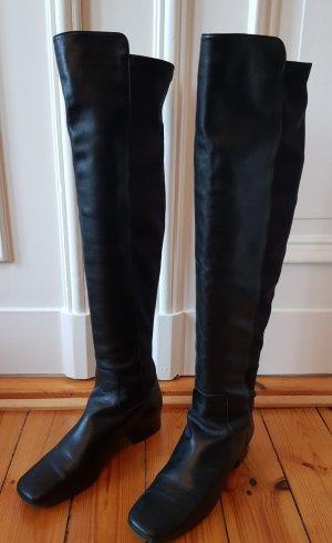 Ursula mascaró Stivale cuissard nero Pelle