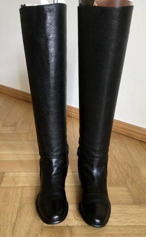 Overknee Stiefel aus Leder