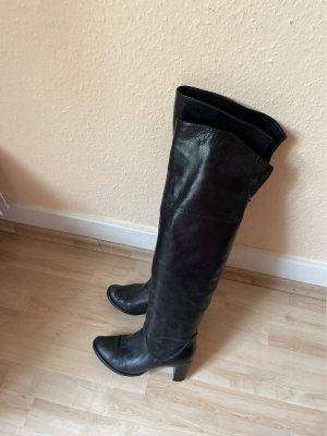 Overknee Stiefel aus weichem Nappaleder