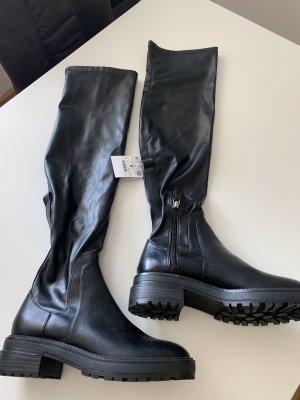 Bershka Stretch Boots black