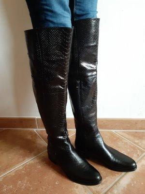 Lavorazione Artigiana Botas sobre la rodilla negro-color bronce