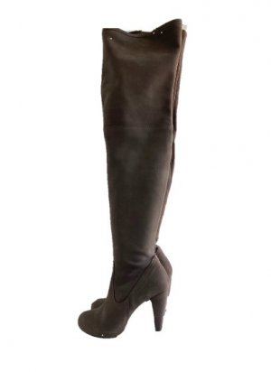 Dolfine Satié Paris Botas sobre la rodilla marrón grisáceo-camel Cuero