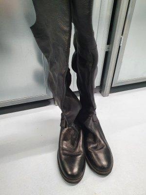 Overknee Stiefel Flach mit seitlicher Schnalle Gr.36