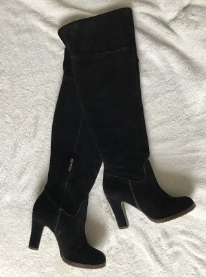 Geox Kniehoge laarzen zwart Suede