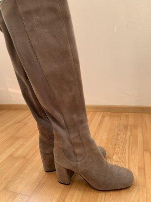 Overknee Stiefel in Rauleder