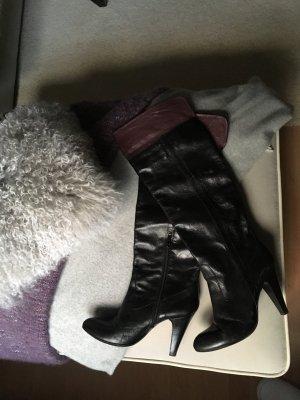 Botas sobre la rodilla negro-lila