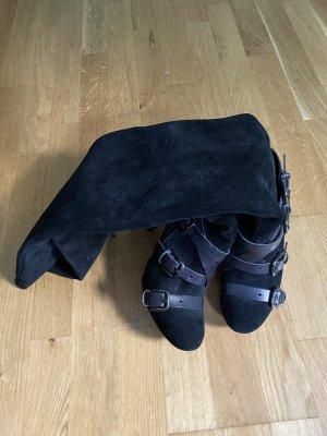 Overknee Stiefel Marke Franky Hawk , Made in Italy