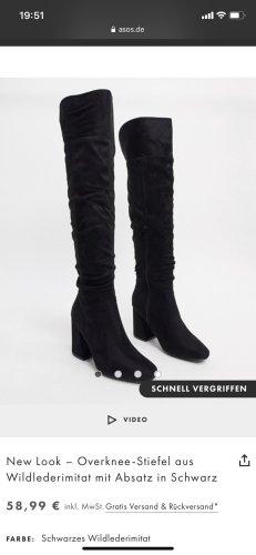 New Look Botas sobre la rodilla negro