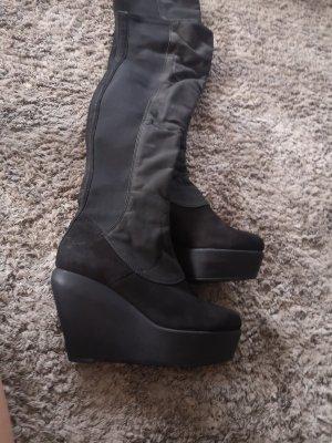 Vagabond Kniehoge laarzen zwart