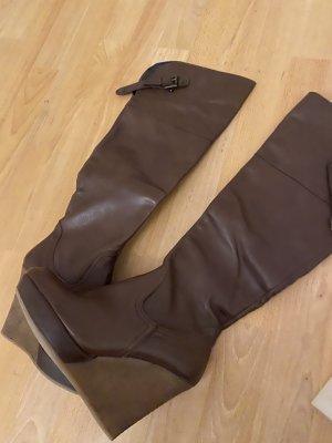 Biondini Platform Boots bronze-colored leather