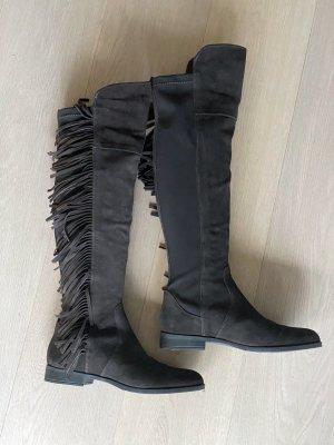 Overknee-Stiefel mit seitlichen Fransen von Vero Moda (ungetragen!)