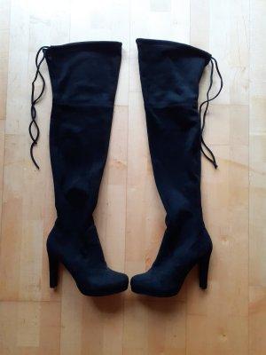 moda in pelle Cuissarde noir