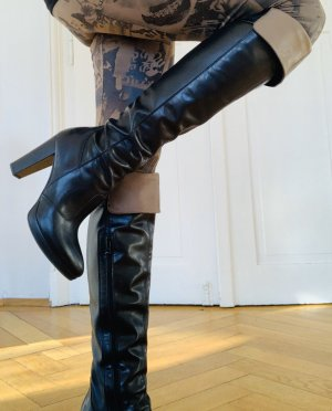 Nero Giardini Botas sobre la rodilla negro-beige Cuero