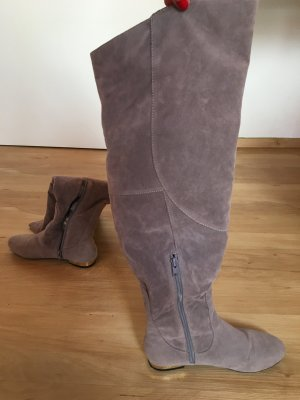 Asos Overknees grey brown