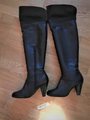 Valerie Perrini Overknees black leather