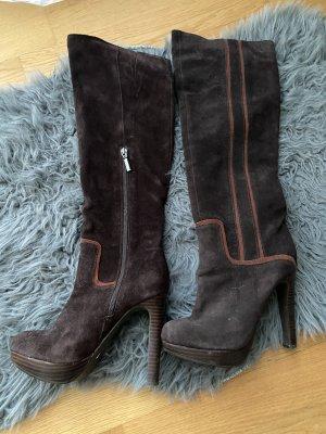 Alisha Overknees cognac-coloured-dark brown