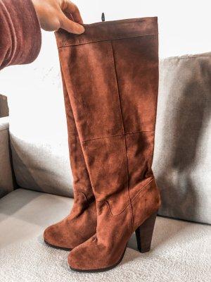 H&M Overknees multicolored leather