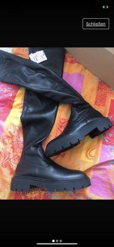 Zara Buty nad kolano czarny