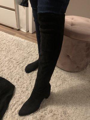 Deichmann Buty nad kolano czarny