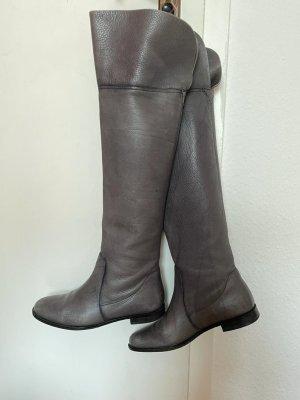 Made in Italy Kniehoge laarzen grijs