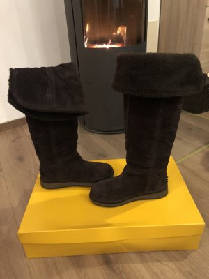 Car Shoe Winter Boots dark brown