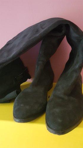 Le Pepe Buty nad kolano ciemnoniebieski