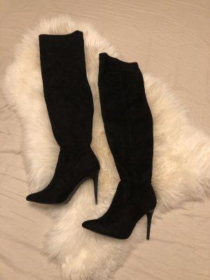 New Look Kniehoge laarzen zwart